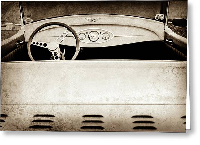 1929 Ford Model A Roadster -0040s Greeting Card by Jill Reger