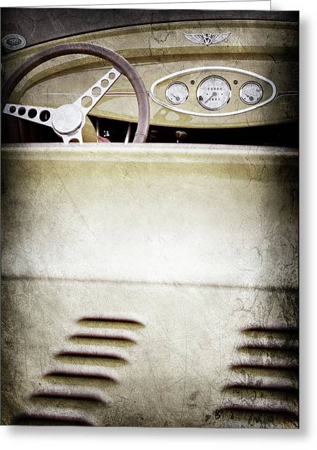 1929 Ford Model A Roadster -0043ac Greeting Card by Jill Reger