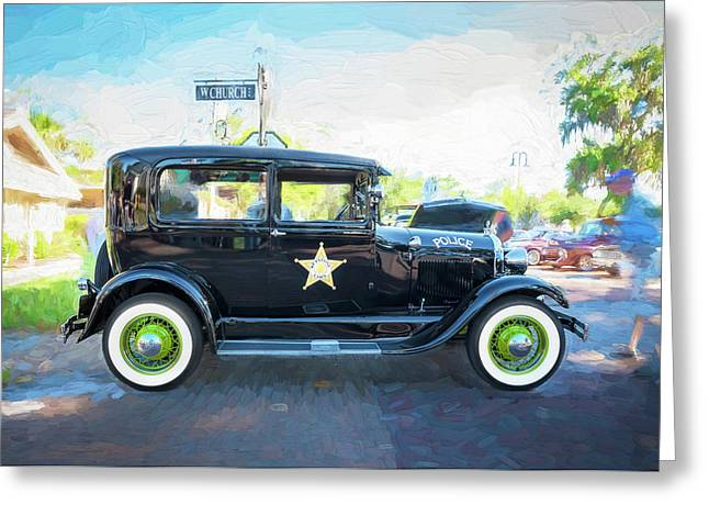 1929 Ford Model A Tudor Police Sedan  Greeting Card by Rich Franco