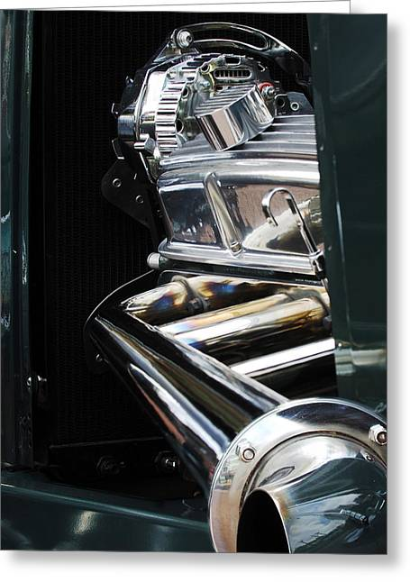 1929 Ford Roadster Pickup Engine Greeting Card