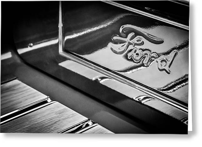 1929 Ford Roadster Pickup Truck -0158bw Greeting Card by Jill Reger