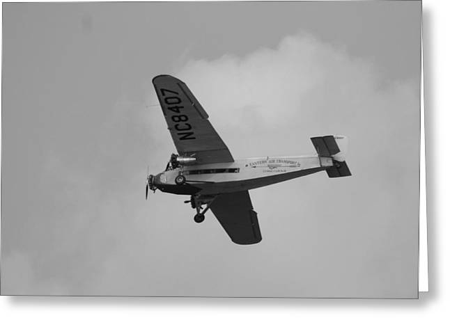 Ford Trimotor Greeting Cards - 1929 Ford Tri Motor Mail Plane Greeting Card by David Dunham