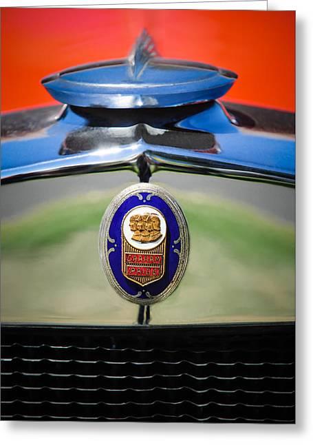 1929 Graham-paige Sport Roadster Emblem -0810c Greeting Card