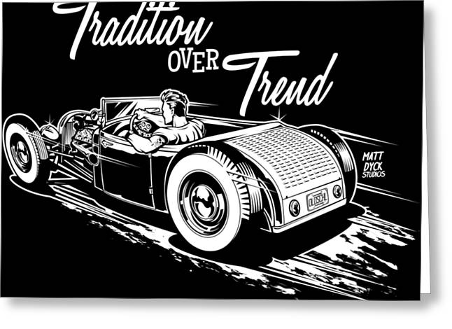 1929 Roadster Design Greeting Card