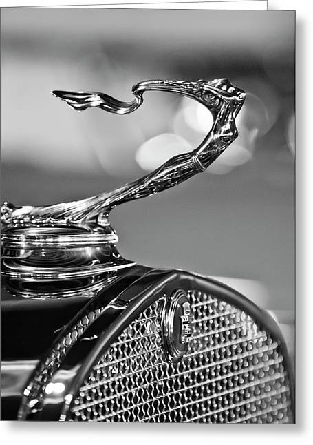 1930 Cadillac Roadster Hood Ornament 2 Greeting Card