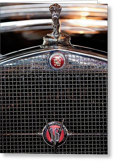 1930 Cadillac Roadster Hood Ornament 3 Greeting Card by Jill Reger