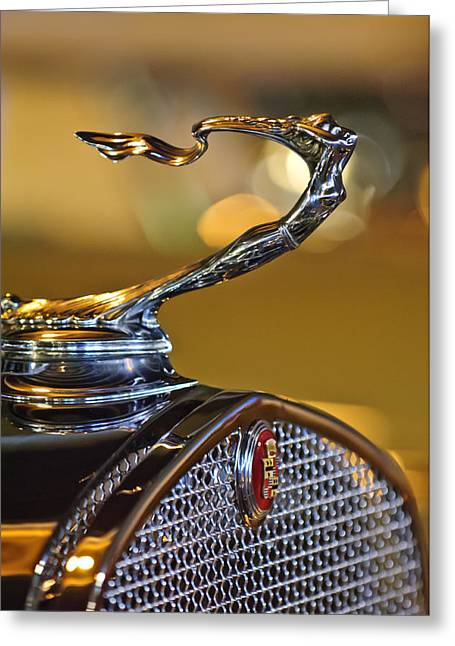 1930 Cadillac Roadster Hood Ornament Greeting Card