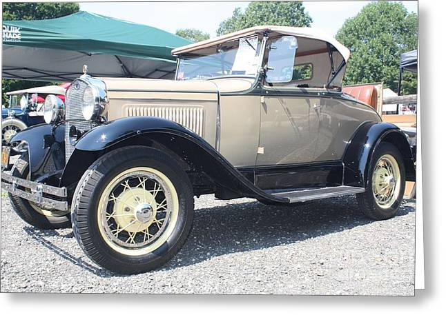 1930 Ford Model A Convertible Greeting Card by John Telfer