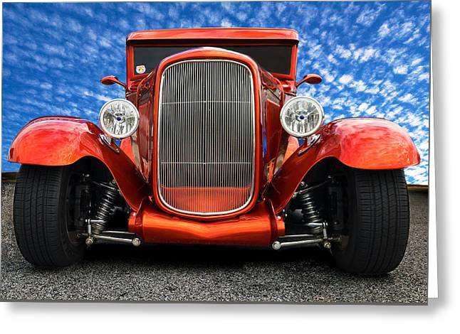 Greeting Card featuring the photograph 1930 Ford Street Rod by Mark Guinn