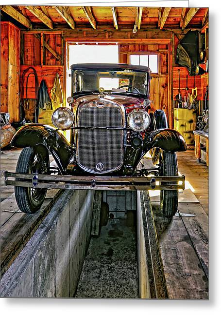 1930 Model T Ford Greeting Card