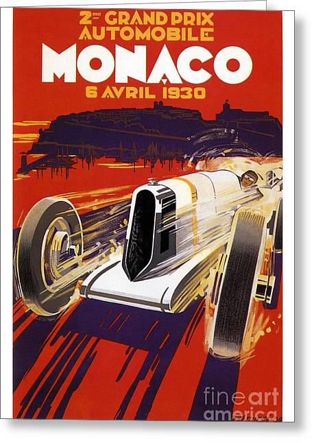 1930 Monaco Grand Prix Greeting Card