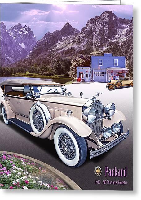 1930 Packard Greeting Card