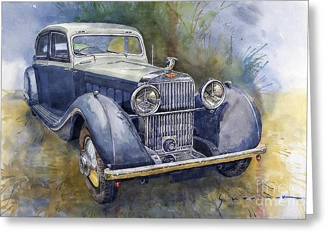 1938 Hispano Suiza J12 Greeting Card