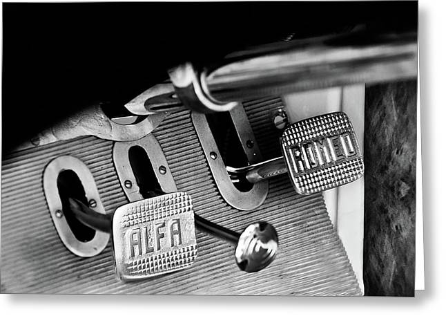 1931 Alfa Romeo 6c 1750 Gran Sport Aprile Spider Corsa Pedals -3689bw Greeting Card