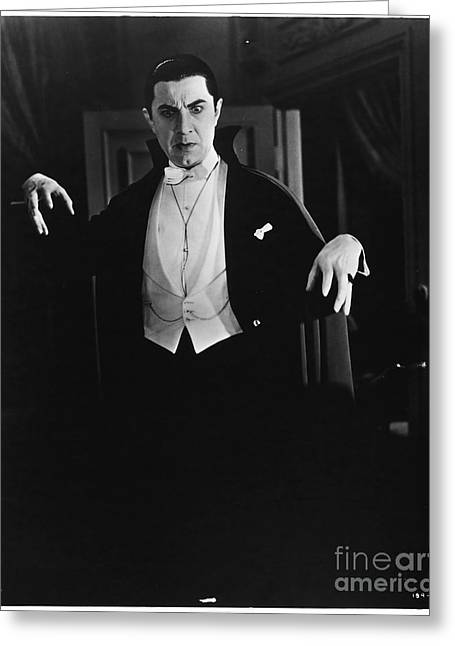 1931 Dracula Bela Lugosi Greeting Card