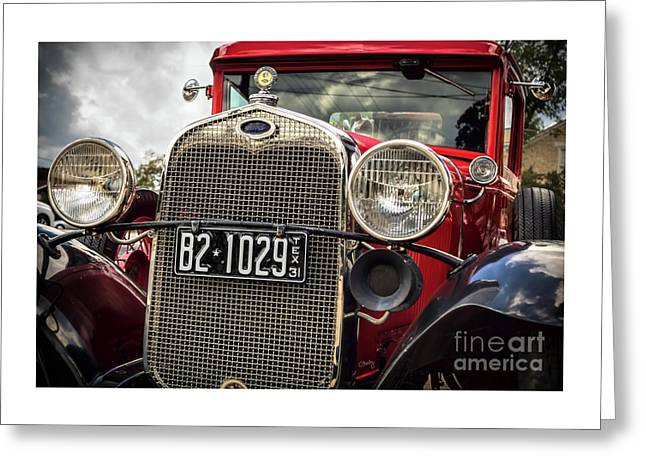 1931 Ford Pu Details Greeting Card by Imagery by Charly