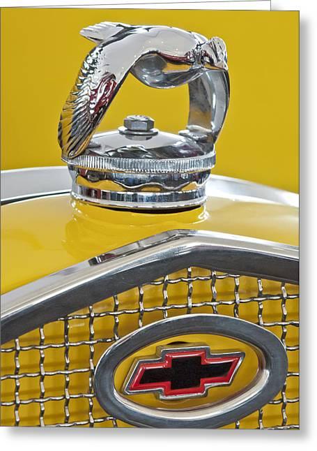 1931 Ford Quail Hood Ornament 2 Greeting Card by Jill Reger