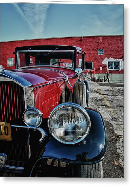 Greeting Card featuring the photograph 1931 Pierce Arow 3473 by Guy Whiteley