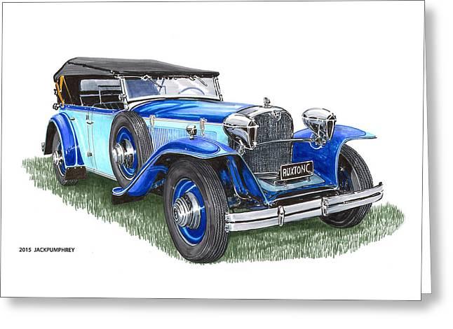 Classic 1931 Ruxton C Dual Cowl Phaeton Greeting Card by Jack Pumphrey