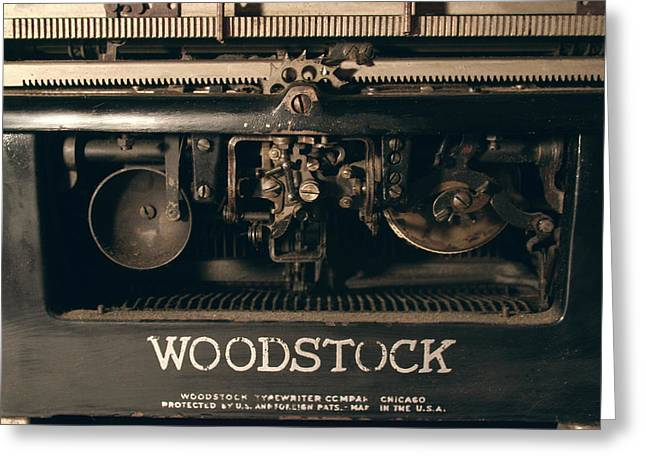 1931 Woodstock Typewriter Back View Greeting Card by Brian Davis