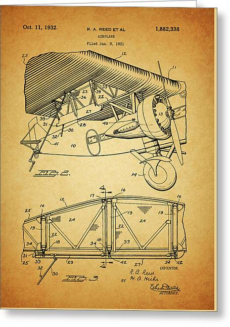 1932 Airplane Patent Greeting Card