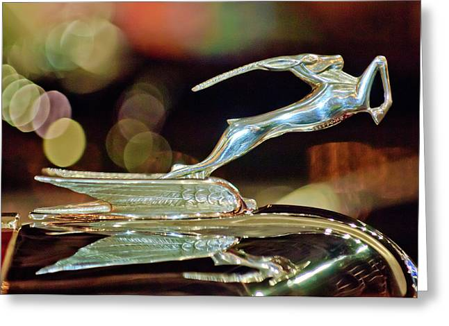 1932 Chrysler Imperial Hood Ornament 1 Greeting Card by Jill Reger