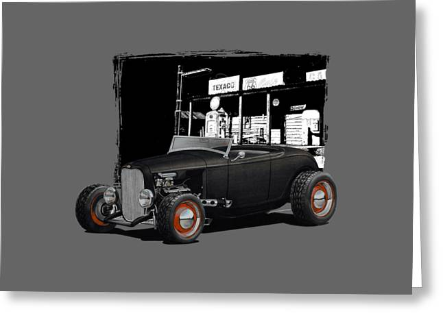 1932 Ford At Gas Station Greeting Card by Paul Kuras