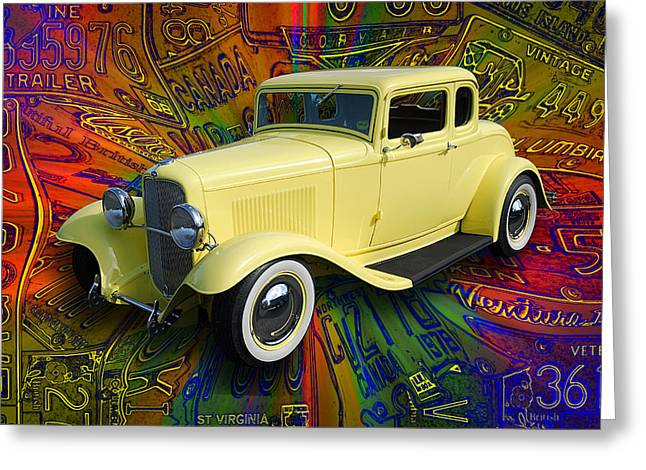 1932 Ford Coupe Greeting Card by Richard Farrington