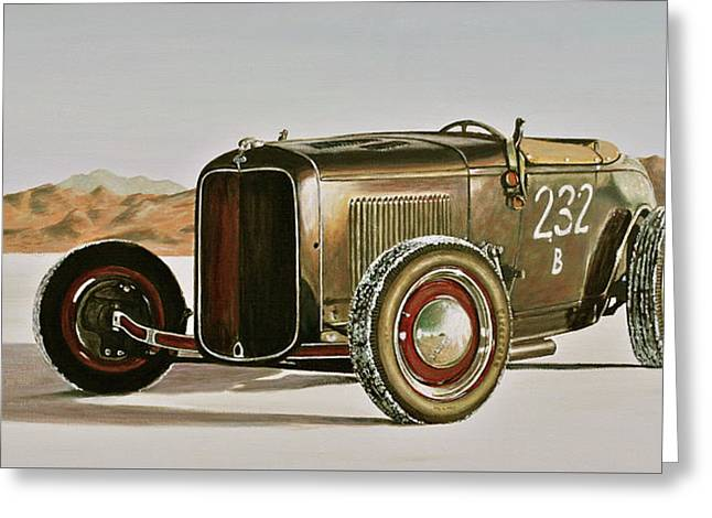 1932 Ford Rolling Bones Roadster Greeting Card by Branden Hochstetler
