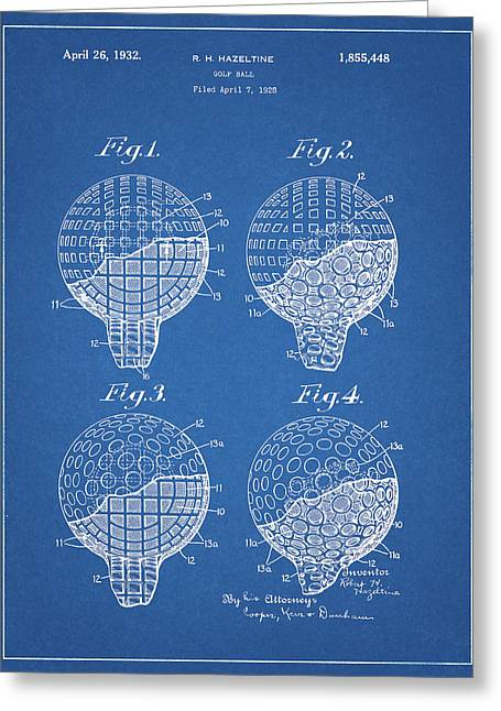 1932 Golf Ball Patent Greeting Card