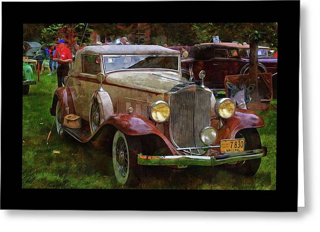 1932 Packard 900 Greeting Card