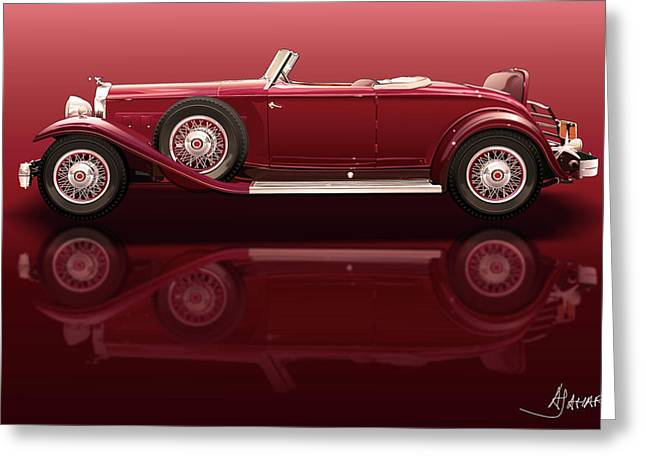 1932 Packard 904 Roadster Greeting Card by Alain Jamar