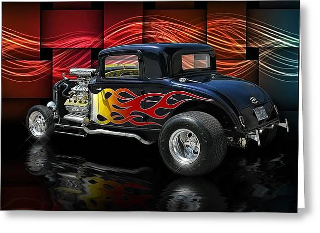 1932 Plymouth Coupe .... Greeting Card by Rat Rod Studios
