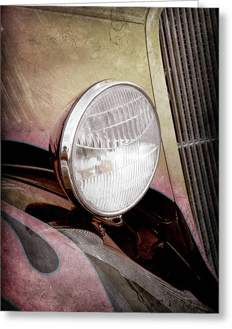 1933 Ford Coupe Hot Rod -0365ac Greeting Card by Jill Reger