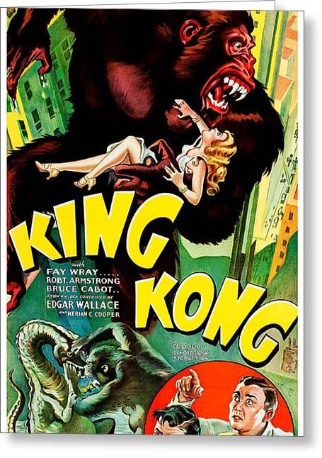 1933 King King Movie Poster Greeting Card by Jon Neidert