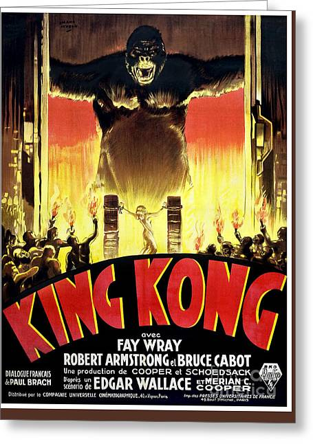 1933 King Kong French  Movie Poster Greeting Card