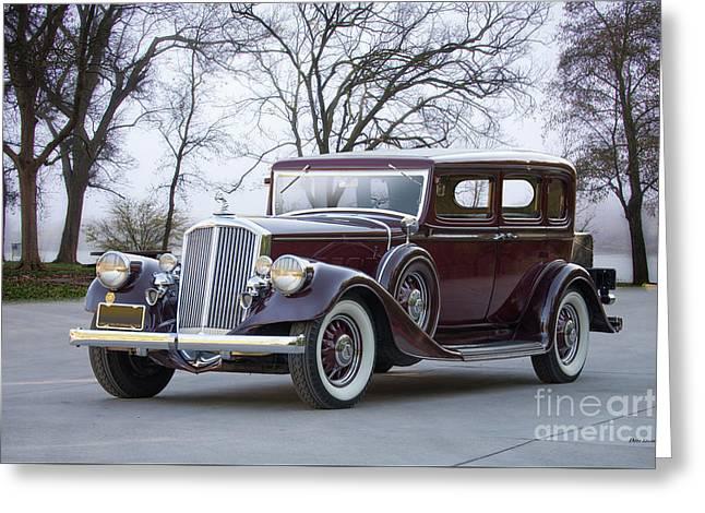 1933 Pierce-arrow 1236 Sedan Greeting Card by Dave Koontz