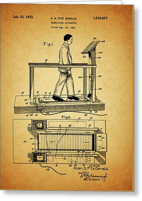 1933 Treadmill Greeting Card by Dan Sproul