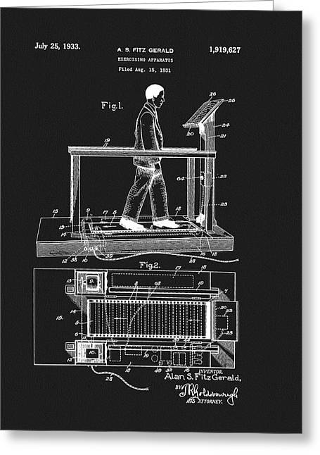 1933 Treadmill Patent Greeting Card