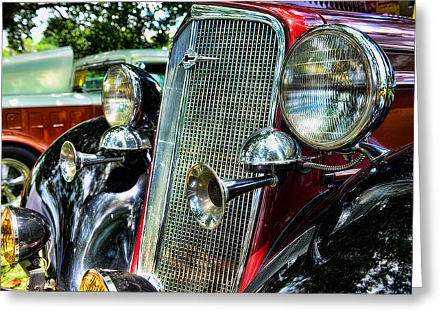 1934 Chevrolet Head Lights Greeting Card