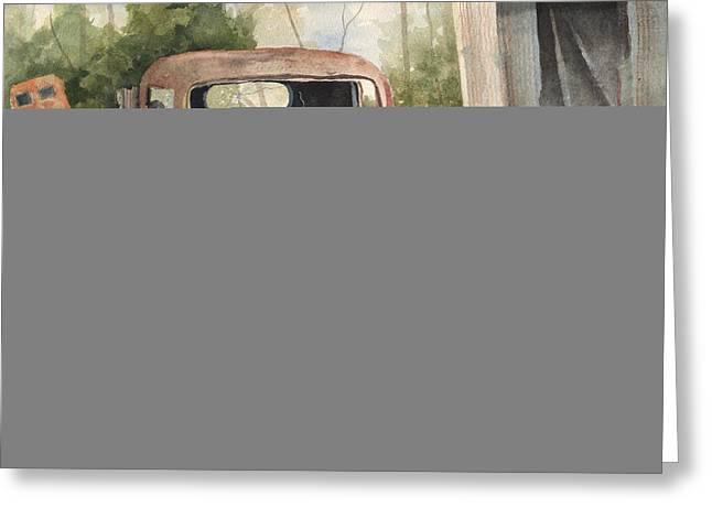 1934 Dodge Half-ton Greeting Card by Sam Sidders