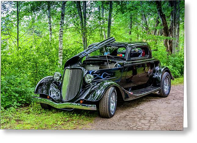 1934 Ford 3 Window Coupe Greeting Card by Ken Morris