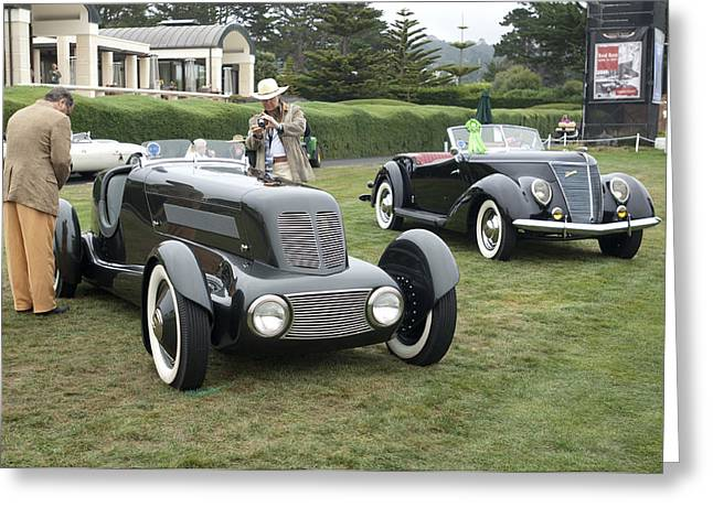 Pebble Beach Car Show Greeting Cards - 1934 Ford Model 40 Special Speedster Greeting Card by Jill Reger