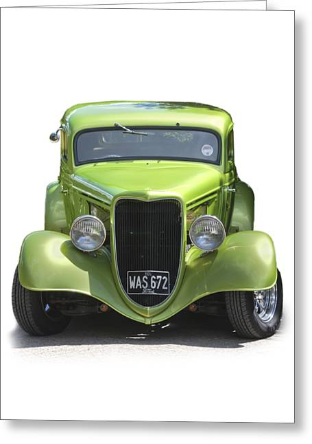 1934 Ford Street Hot Rod On A Transparent Background Greeting Card
