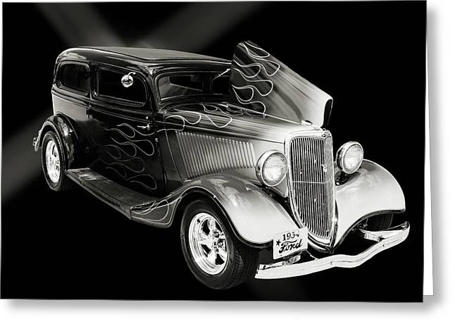 1934 Ford Street Rod Classic Car 5545.53 Greeting Card by M K  Miller