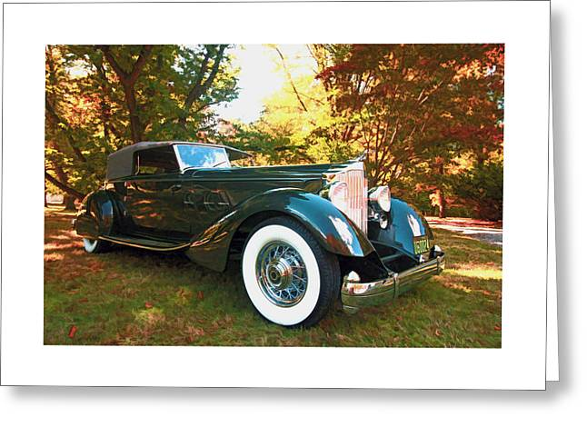 1934 Packard Dietrich Convertible Victoria Greeting Card