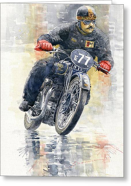 1934 Rudge Ulster Grand Prix Model  Greeting Card