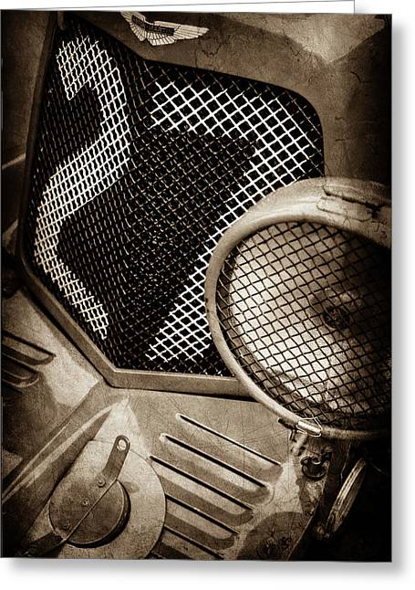 1935 Aston Martin Ulster Race Car Grille -0979s Greeting Card