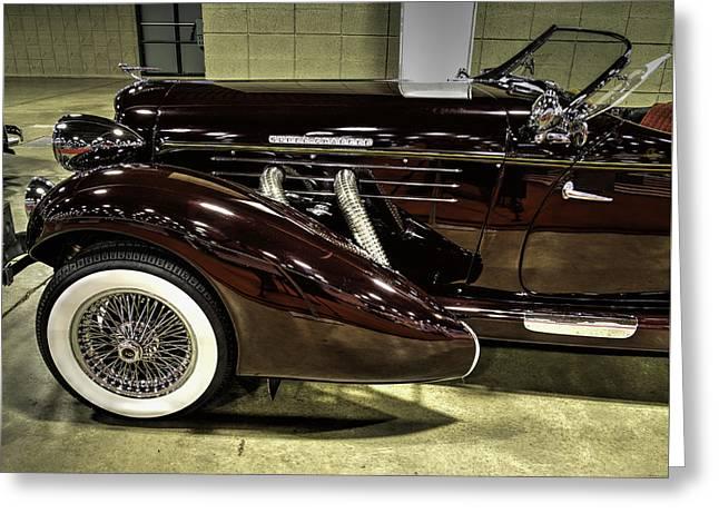 1935 Auburn 866 Speedster V3 Greeting Card