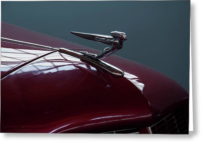 Greeting Card featuring the photograph 1936 Auburn Hood Ornament by Chris Flees